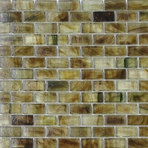 """American Olean Visionaire Summer Storm 5/8"""" x 1 1/4"""" Mosaic Glossy"""