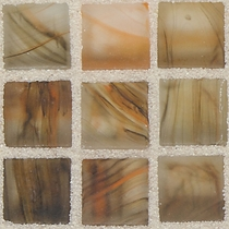 """American Olean Visionaire Warm Sunset 5/8"""" x 5/8"""" Mosaic Frosted"""