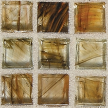 """American Olean Visionaire Warm Sunset 5/8"""" x 5/8"""" Mosaic Glossy"""