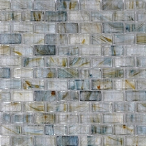 """American Olean Visionaire Whispering Stream 5/8"""" x 1 1/4"""" Mosaic Glossy"""