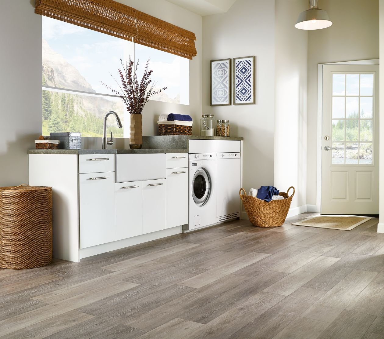 Armstrong Flooring Options: Armstrong Luxe Fastak Limed Oak Chateau Gray Vinyl
