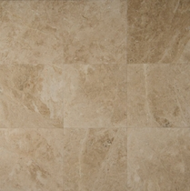 "Bedrosians Marble Tile Cappuccino Tumbled 6"" x 6"""