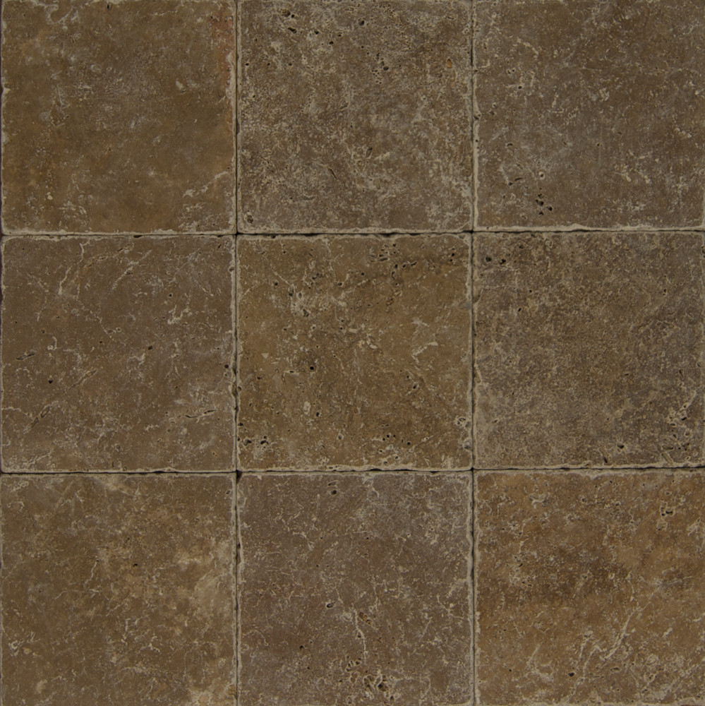 Travertine Tile Cobblestone Brown 8 X 8 Natural Stone Tile TRV