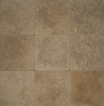 "Bedrosians Pavers Travertine Tile Kale Blend 16"" x 16"""