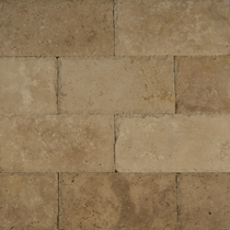 "Bedrosians Pavers Travertine Tile Kale Blend 16"" x 24"""