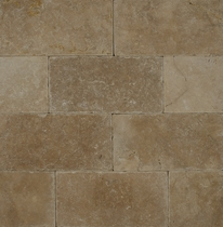 "Bedrosians Pavers Travertine Tile Mirage Tan 16"" x 24"""