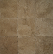 "Bedrosians Pavers Travertine Tile Mirage Tan 8"" x 8"""