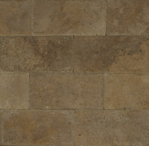 "Bedrosians Pavers Travertine Tile Mocha Jura 8"" x 16"""