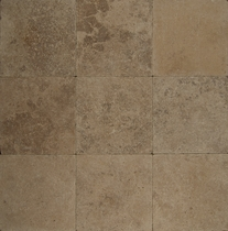 "Bedrosians Pavers Travertine Tile Mocha Jura 8"" x 8"""