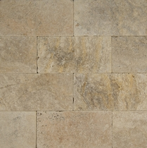 "Bedrosians Pavers Travertine Tile Philadelphia Rust 8"" x 16"""