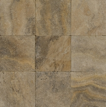 "Bedrosians Pavers Travertine Tile Philadelphia Rust 8"" x 8"""