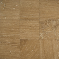 "Bedrosians Travertine Tile Aras Brown 18"" x 18"""