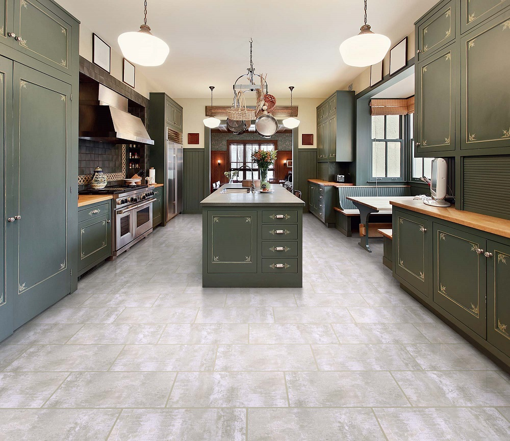 Congoleum Duraceramic Dimensions Reaction Echo Vinyl Tile