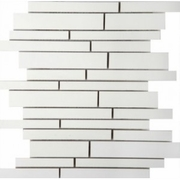 Emser Tile Style Pure White Linear Mosaic Polished Blend