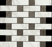Happy Floor Calacatta Brick Joint Mosaic