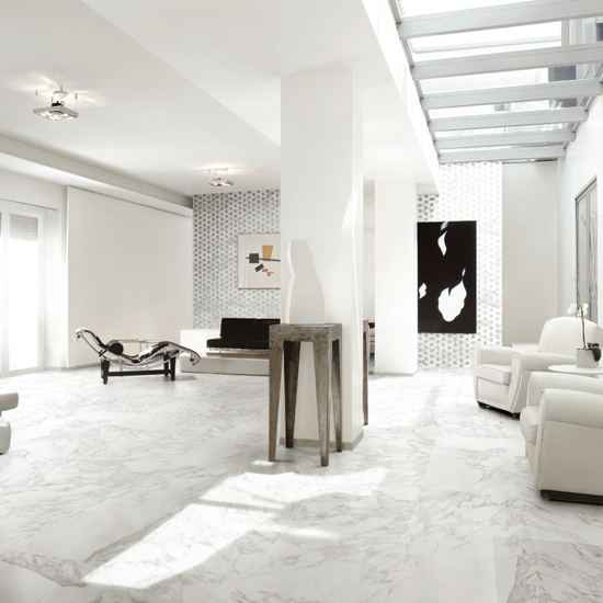 Happy Floors Calacatta Porcelain Marble Calacatta Tile
