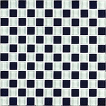Interceramic Shimmer Blends Checkerboard 2 x 2 Gloss Mosaic