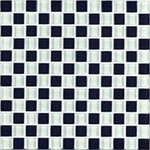 "Interceramic Shimmer Blends Checkerboard 2"" x 2"" Matte Mosaic"