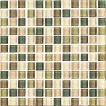 "Interceramic Shimmer Blends Foliage 2"" x 2"" Matte Mosaic"