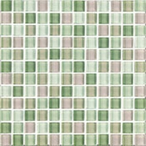 Interceramic Shimmer Blends Garden 2 x 2 Gloss Mosaic