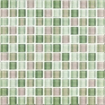 "Interceramic Shimmer Blends Garden 2"" x 2"" Gloss Mosaic"