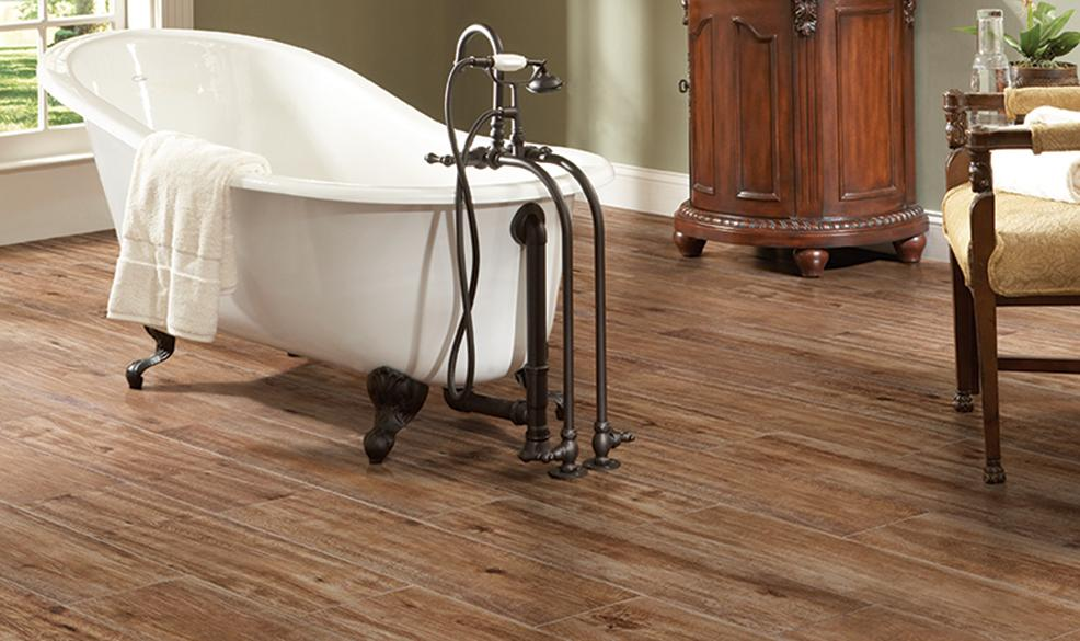 "... Estates Natural 9"" x 36"" Wood Look Color Body Porcelain Tile ULCG"
