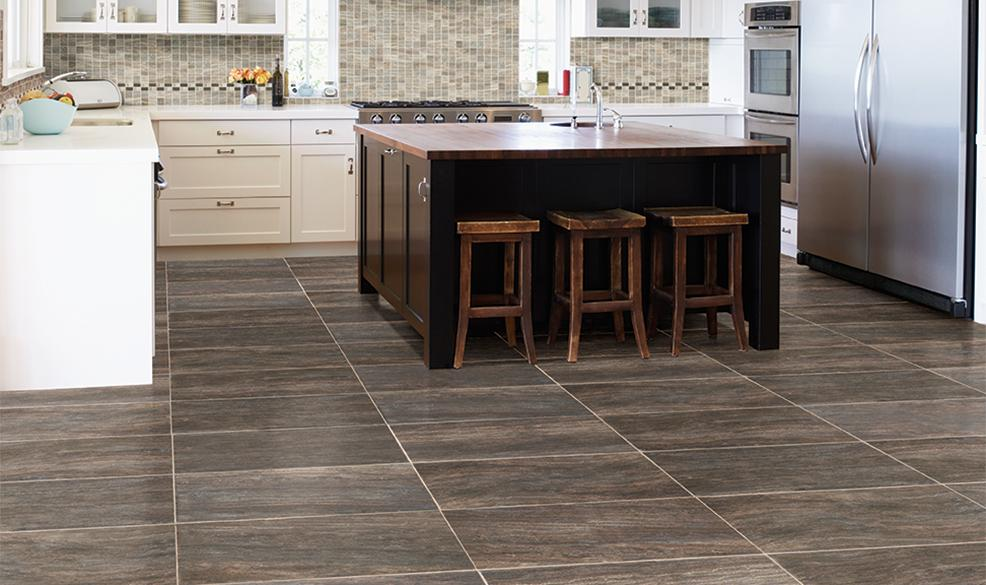Wood Look Porcelain Tile Kitchen Countertop