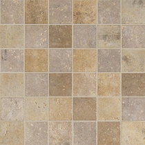 "Marazzi Walnut Canyon Cream Mosaic 2"" x 2"""
