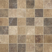 "Marazzi Walnut Canyon Multi Mosaic 2"" x 2"""