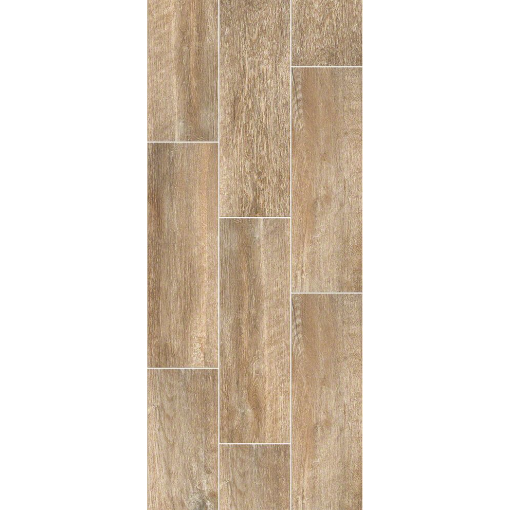 "Shaw Channel Plank Mussel Tile Flooring 7"" X 22"""