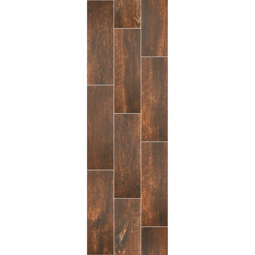 """Shaw Channel Plank Thicket Wood Look Porcelain Tile 7"""" X ..."""