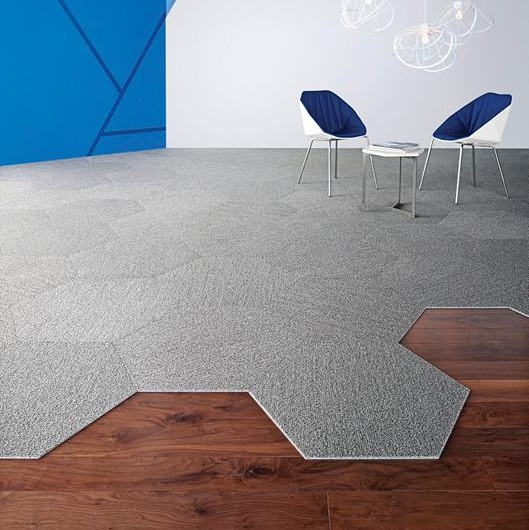 Shaw Contract Group Plane Hexagon Carpet Tile 5t054
