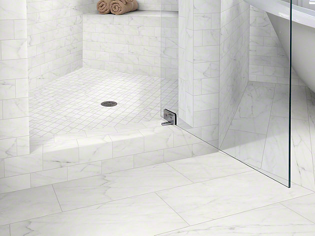 1 Inch Square Floor Tile Ivory