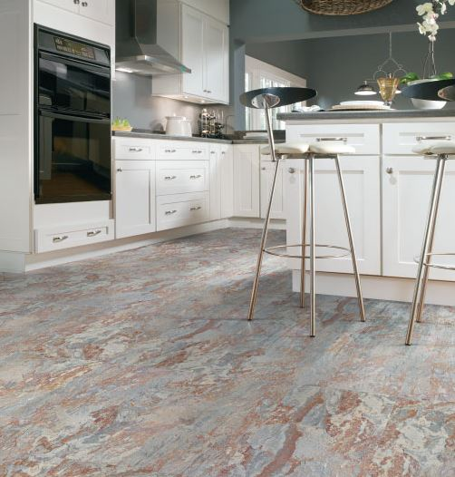 Kitchen Cork Flooring Ideas: USFloors Natural Cork Canvas Slate Autumn 40PC1001
