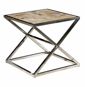 Steel & Reclaimed Wood End Table