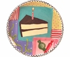 Birthday Party Unrimmed Salad Plate Cake