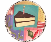 Birthday Party Unrimmed Salad Plate/Cake