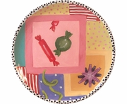 Birthday Party Unrimmed Salad Plate/Candy