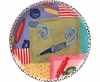 Birthday Party Unrimmed Salad Plate/Noise Maker