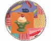 BirthdyParty Unrimmed Salad Plate/Icecream