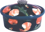 Black Shrimp Medium Oval Casserole