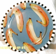 Checkers - Rimmed Dinner Plate