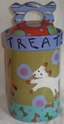 """""""Dogie Treats"""" Canister (personalized)"""