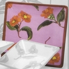 Fall Floral Square Dinner Plate/Camellia