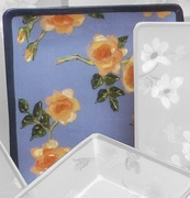 Fall Floral Square Dinner Plate/Rose