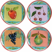 Fruit Squared Salad Plate Set