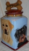 Large Dog Biscuit Jar