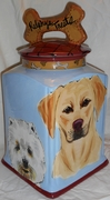 Large Dog Biscuit Jar (Personalized)