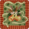 Pear Ribbon Square Dinner Plate