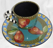 Speckled Pear/ Tea and Biscuit Plate Set